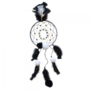 Make your own black and white dream catcher good things for Build your own net dream